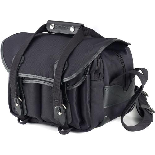Billingham 225 Shoulder Bag Black with Black Leather Trim