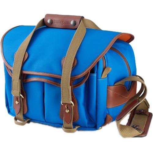 Billingham 225 Shoulder Bag Imperial Blue with Tan Leather Trim