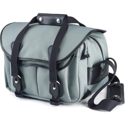 Billingham 225 Shoulder Bag Gray with Black Leather Trim