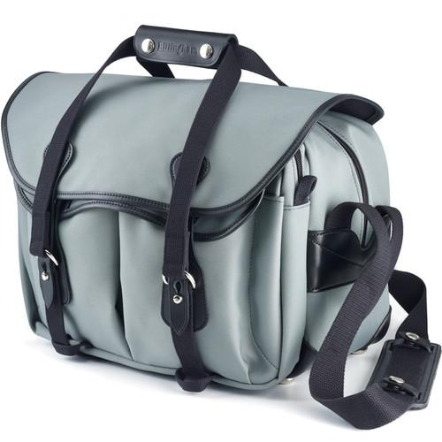 Billingham 335 Shoulder Bag (Canvas, Gray with Black Leather Trim)