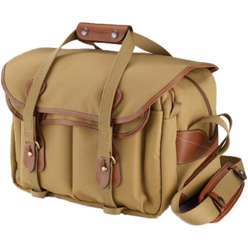 Billingham 335 Shoulder Bag (FiberNyte, Khaki with Tan Leather Trim)