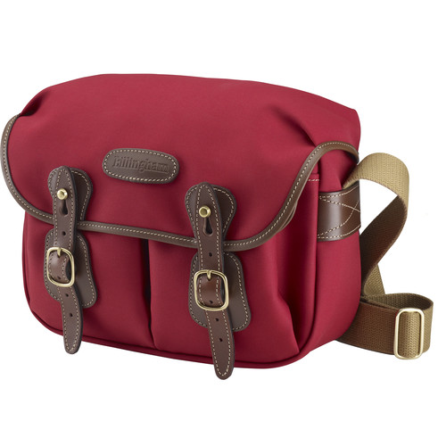 Billingham Hadley Shoulder Bag Small (Burgundy with Chocolate Leather Trim)