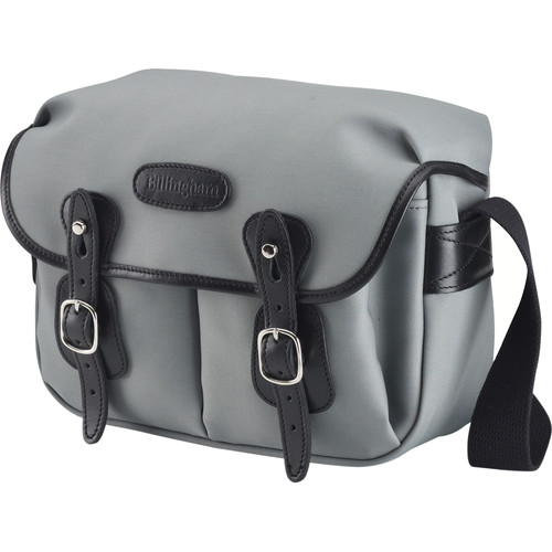 Billingham Hadley Shoulder Bag Small (Gray with Black Leather Trim and Black Lining)