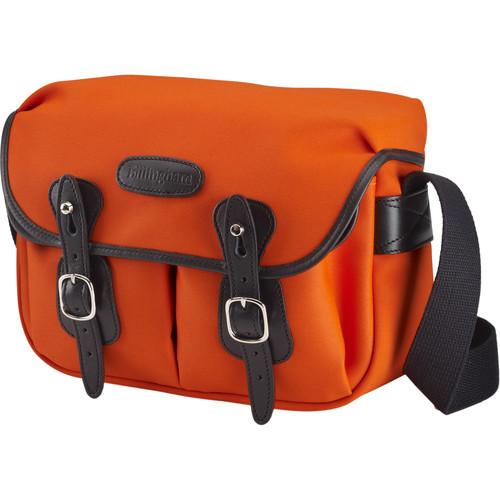 Billingham Hadley Shoulder Bag Small (Neon Orange with Black Leather Trim and Black Lining)