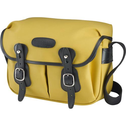 Billingham Hadley Shoulder Bag Small (Sulfur Yellow with Black Leather Trim)
