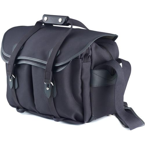 Billingham 445 Shoulder Bag (Black FibreNyte with Black Leather Trim)