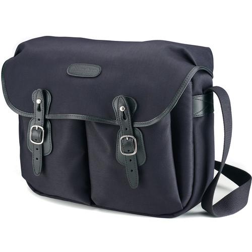 Billingham Hadley Large FiberNyte Shoulder Bag (Black with Black Leather Trim)
