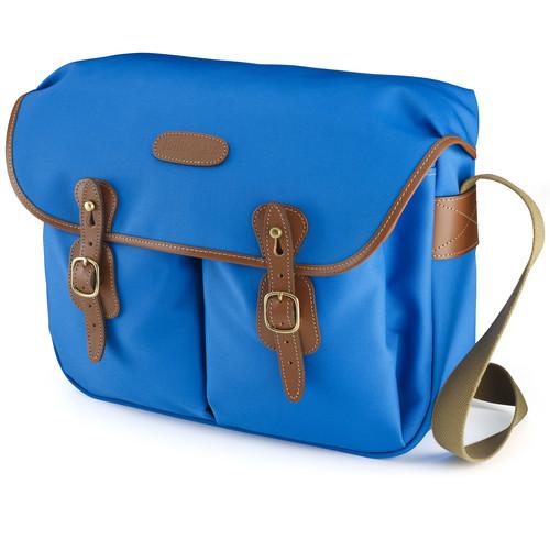 Billingham Hadley Large Canvas Shoulder Bag (Imperial Blue with Tan Leather Trim)