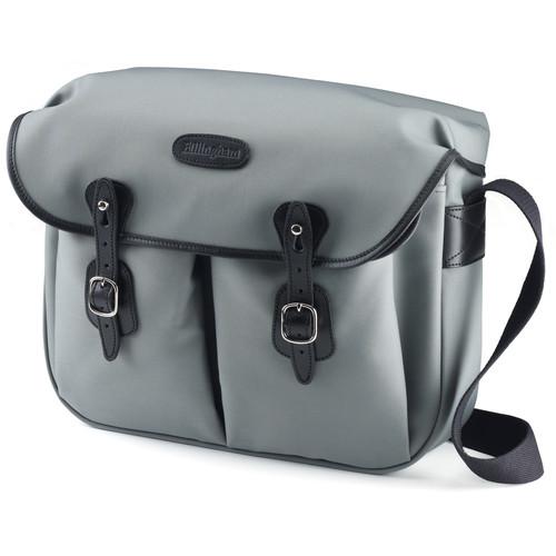 Billingham Hadley Large Canvas Shoulder Bag (Gray with Black Leather Trim)