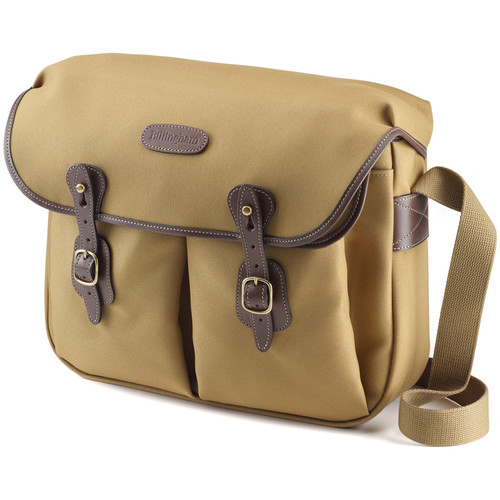 Billingham Hadley Large FiberNyte Shoulder Bag (Khaki with Chocolate Leather Trim)