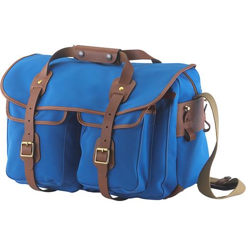Billingham 550 Original Shoulder Bag (Imperial Blue/Tan)