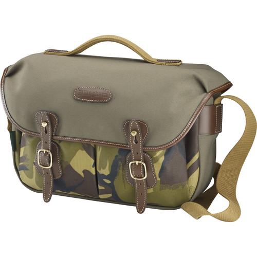Billingham Hadley ProShoulder Bag (Sage Camo FibreNyte & Chocolate Leather)