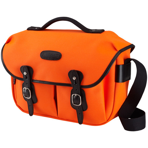 Billingham Hadley Pro Shoulder Bag (Neon Orange Canvas & Black Leather)