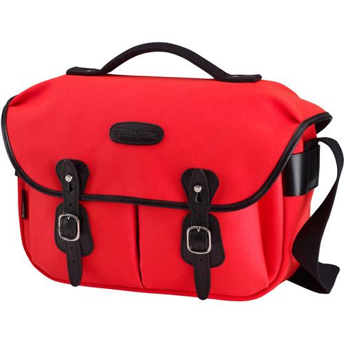 Billingham Hadley ProShoulder Bag (Neon Red Canvas & Black Leather)