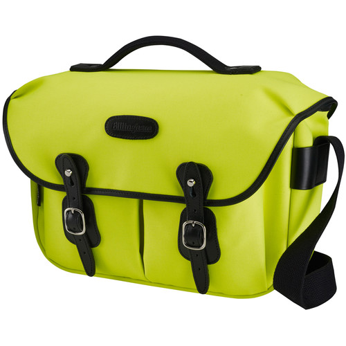 Billingham Hadley ProShoulder Bag (Neon Yellow Canvas & Black Leather)