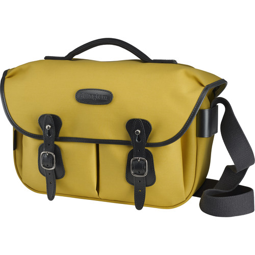 Billingham Hadley ProShoulder Bag (Sulfur Yellow Canvas & Black Leather)