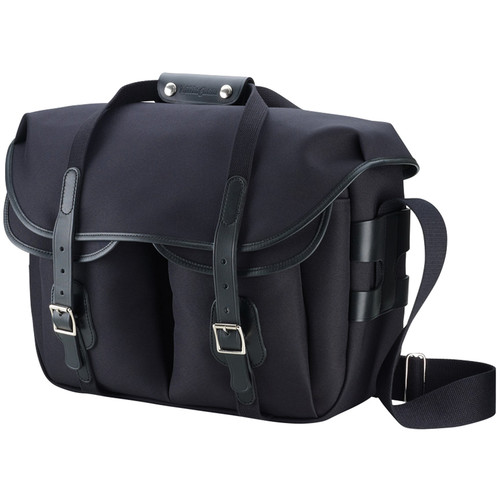 Billingham Hadley Large Pro Shoulder Bag (Black Canvas & Black Leather)