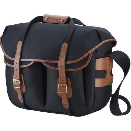 Billingham Hadley Large Pro Shoulder Bag (Black Canvas & Tan Leather)