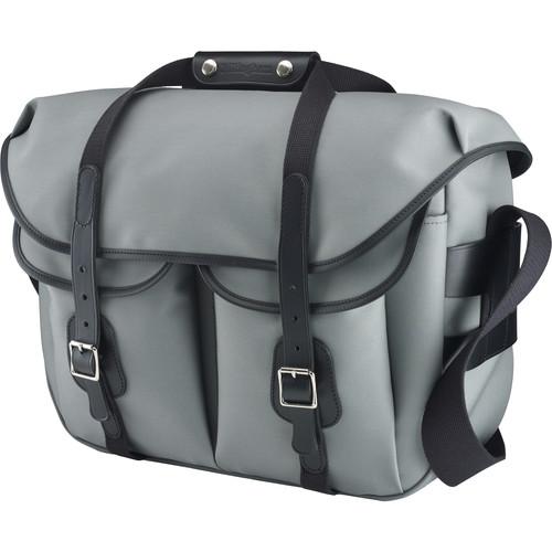 Billingham Hadley Large Pro Shoulder Bag (Gray Canvas & Black Leather)
