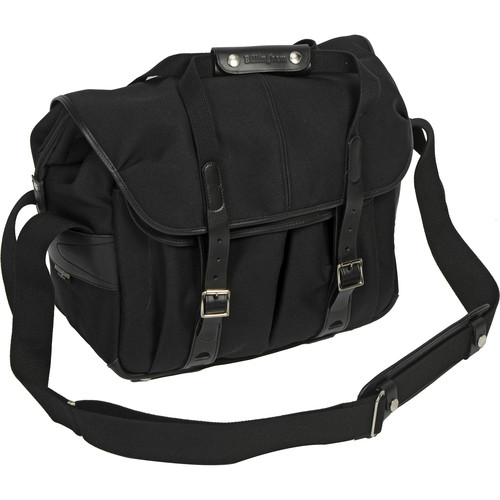 Billingham 307L Camera and Laptop Shoulder Bag (Black FibreNyte & Leather)