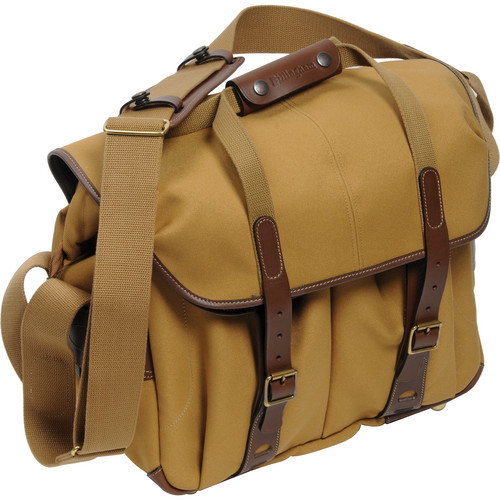 Billingham 307L Camera and Laptop Shoulder Bag (Khaki with Chocolate Leather)