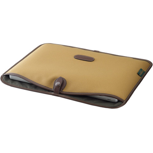 "Billingham Slip Case for 15"" Laptop (Khaki FibreNyte & Chocolate Leather Trim)"