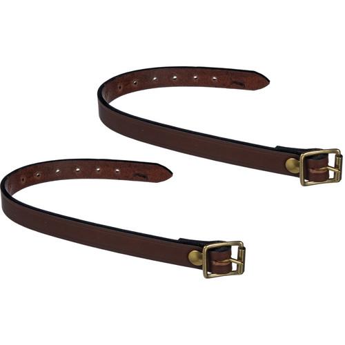 Billingham Leather Tripod Straps (Pair, Chocolate)