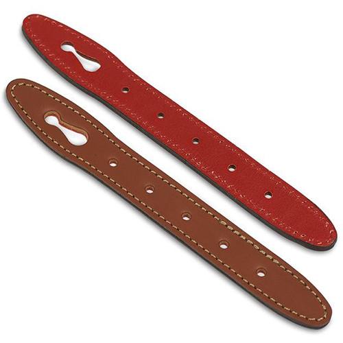 Billingham Hadley Front Straps (Set of 2, Tan Front/Red Back)