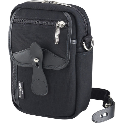 Billingham Stowaway Airline Shoulder Bag (Black/Black Leather)