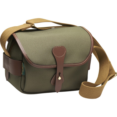 Billingham S2 Shoulder Bag (Sage FibreNyte/Chocolate Leather)