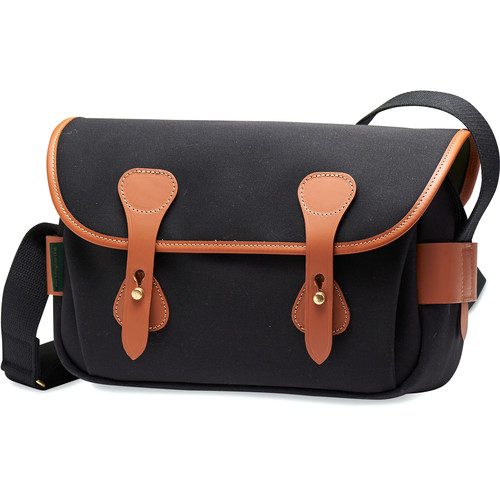 Billingham S3 Shoulder Bag (Black Canvas/Tan Leather)