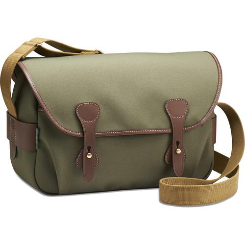 Billingham S4 Shoulder Bag (Sage FibreNyte/Chocolate Leather)