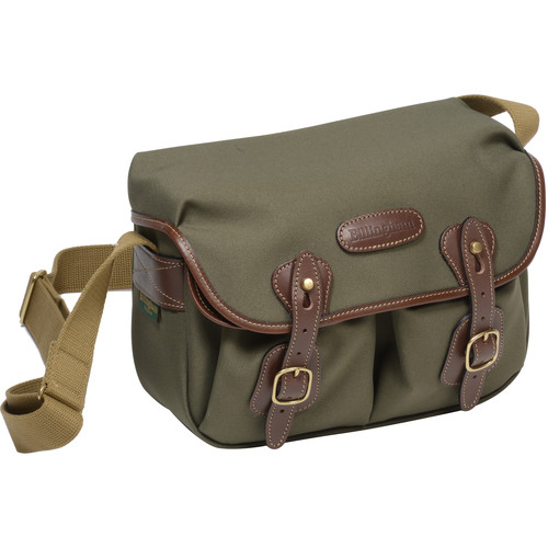 Billingham Hadley Shoulder Bag Small (Sage with Chocolate Leather Trim)