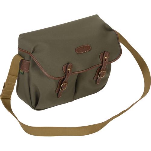 Billingham Hadley Large FiberNyte Shoulder Bag (Sage with Chocolate Leather Trim)