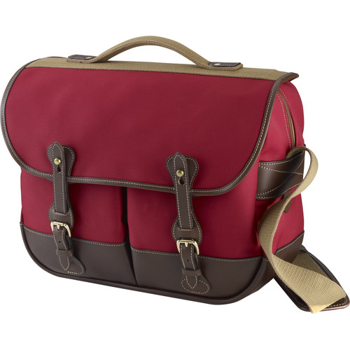 Billingham Eventer Photo Bag (Burgundy Canvas/Chocolate Leather)