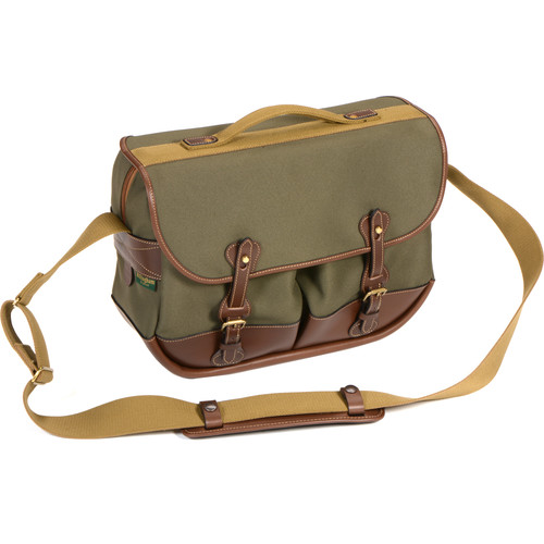 Billingham Eventer Photo Bag (Sage FibreNyte/Chocolate Leather)