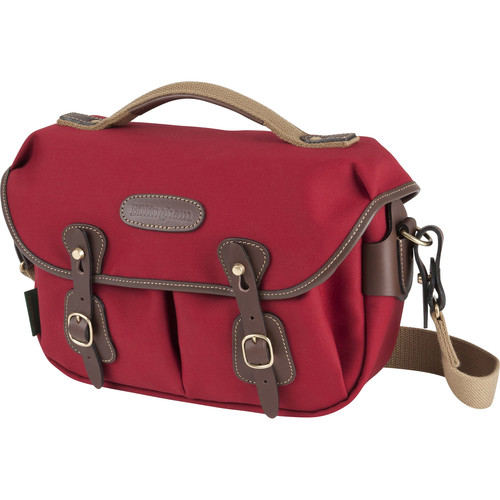 Billingham Hadley Small Pro Special EditionShoulder Bag (Burgundy Canvas & Chocolate Leather)