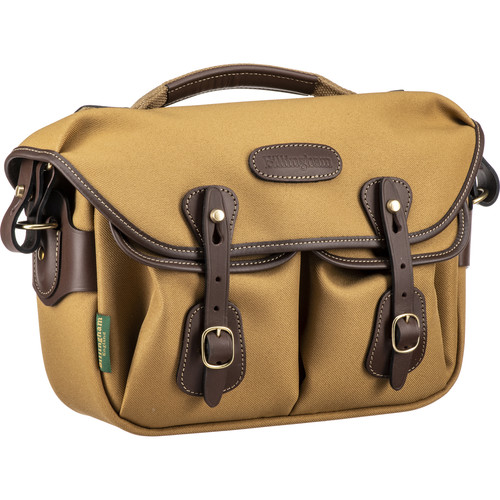 Billingham Hadley Small Pro Shoulder Bag (Khaki FibreNyte & Chocolate Leather)