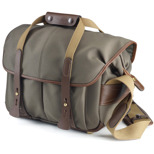 Billingham 307 Shoulder Bag (Sage with Chocolate Leather)