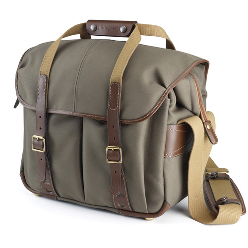 Billingham 307L Camera and Laptop Shoulder Bag (Sage FibreNyte & Chocolate Leather)