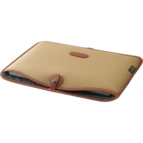 "Billingham Slip Case for 15"" Laptop (Khaki Canvas & Tan Leather Trim)"