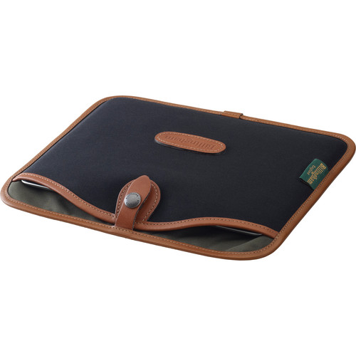 Billingham Tablet Slip Case (Black Canvas & Tan Leather Trim)