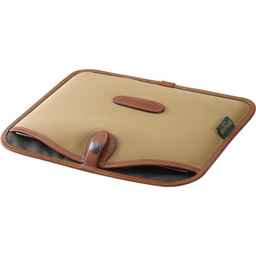 Billingham Tablet Slip Case (Khaki Canvas & Tan Leather Trim)