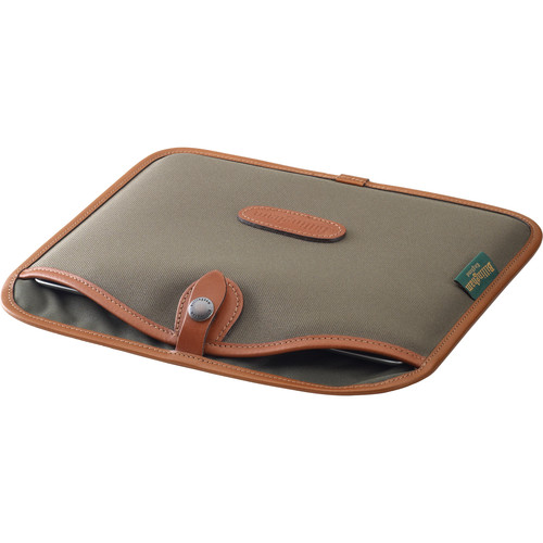 Billingham Tablet Slip (Sage FibreNyte & Tan Leather Trim)