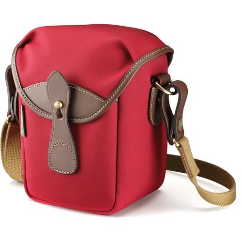 Billingham 72 Small Camera Bag (Burgundy Canvas/Chocolate Leather)