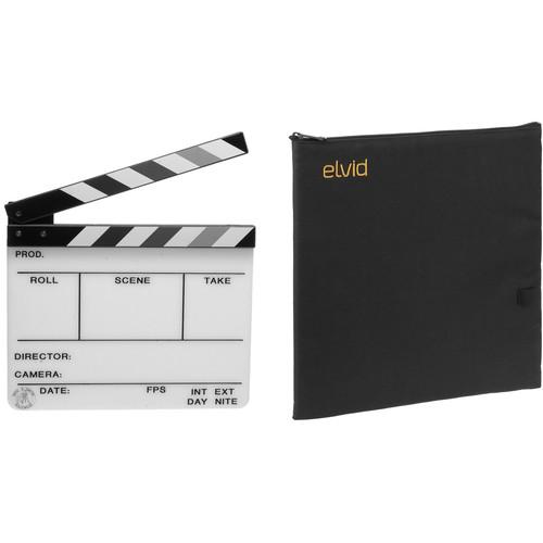 "Birns & Sawyer 7 x 11"" Grayscale Engraved Acrylic Dry Erase Production Slate with Soft Case Kit"