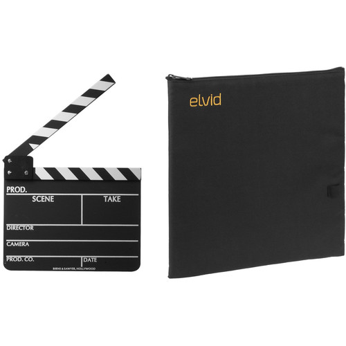 Birns & Sawyer 7 x 11 Chalkboard Production Slate with Soft Case Kit