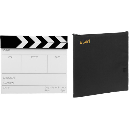 "Birns & Sawyer 7 x 11"" Acrylic Dry Erase Production Slate with Soft Case Kit"