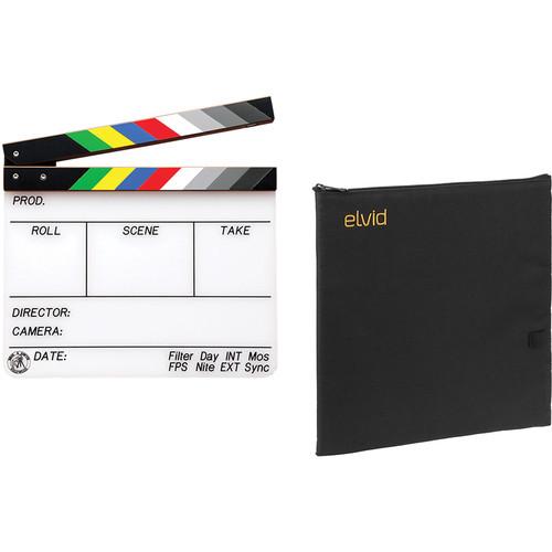 "Birns & Sawyer 9 x 11"" Acrylic Dry Erase Production Slate with Soft Case Kit"