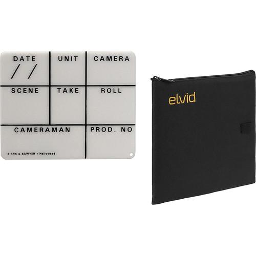 "Birns & Sawyer 4 x 5"" Acrylic Dry Erase Insert Slate with Soft Case Kit"